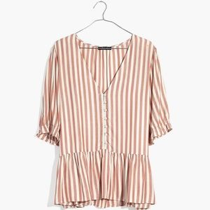 NWOT striped Madewell top